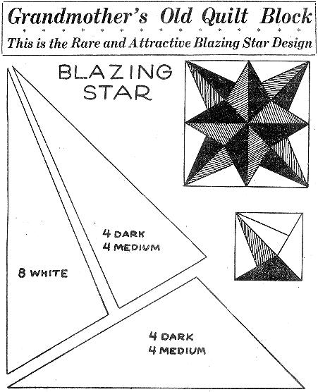 Quilt History Tidbits -- Old & Newly Discovered : blazing star quilt - Adamdwight.com